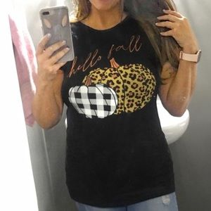Hello Fall Fitted Tee